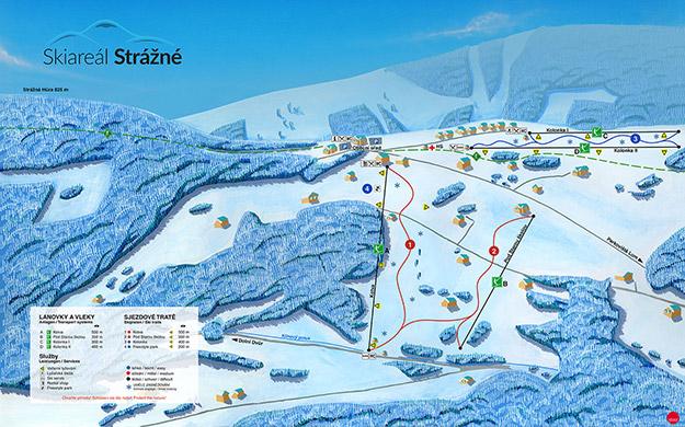 Panoramatická mapa Skiareálu